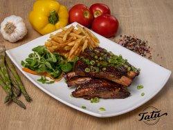 Coaste de porc grill cu sos barbecue image