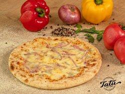 Pizza Quattro formaggi cu sunca si bacon image