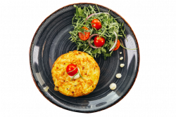 Hashbrown and herbs breakfast image