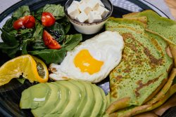 Spinach breakfast pancakes and more image