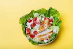 Turkey on Iceberg salad image