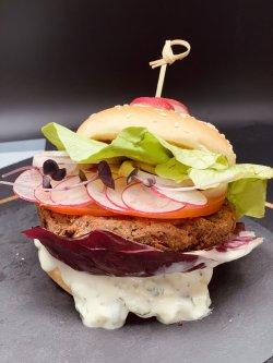 Burger cu fasole roșie și ciuperci image