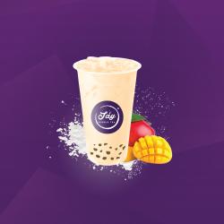 Mango milk tea image