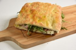 Focaccia truffle panino image