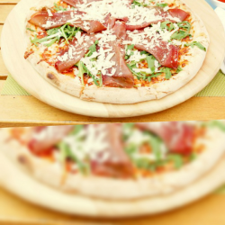Pizza Bresaola crudo image