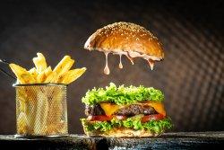 London pride cheeseburger  image