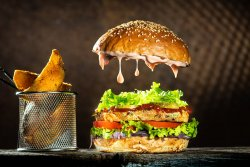 Chicken deluxe burger image