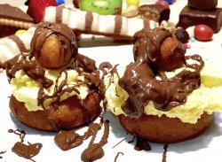 Papanași cu ciocolată și vanilie image
