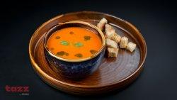 Supă cremă de rosii coapte cu busuioc proaspat si crutoane image