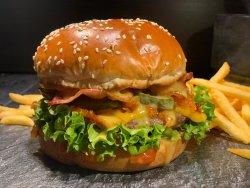 Cheesburger classic cu cartofi super crunch  image