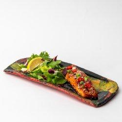 Oven Cooked Salmon With Teriyaki Sauce image