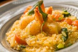 Risotto cu creveți și zucchini/Risotto with shrimps and zucchini