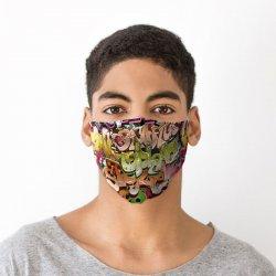 Masca de protectie faciala - Street Graffiti Face Covering, large image