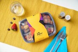 Lunch Box: Porc in Sos de Ananas, Sos de Soia si Orez Jasmin, Supa Crema de Linte Rosie cu Morcovi image