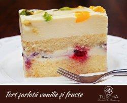 Tort Sarlota vanilie si fructe