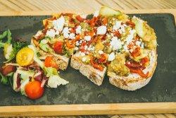 Bruschetta grilled vegetables