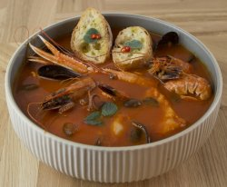 Caciucco Siciliano(supă de fructe de mare pt 2 pers) image
