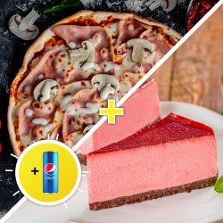 Combo Pizza Prosciutto & funghi image