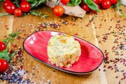 Cartofi zdrobiți cu morcovi și mărar image