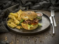 Burger Diavolino cu cartofi dippers image