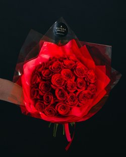 Red roses bouquet-25
