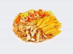 Kebab de pui cu cartofi