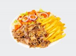 Kebab de vită cu cartofi