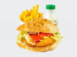 Sandwich snițel de pui meniu