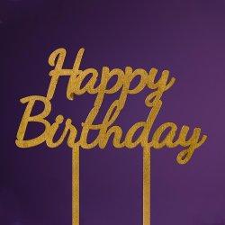 Topper Happy Birthday auriu image