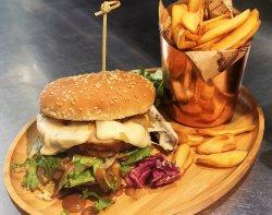Porchetta Burger with smoked  image