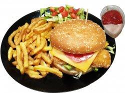 Burger cu pui crispy cu cartofi image