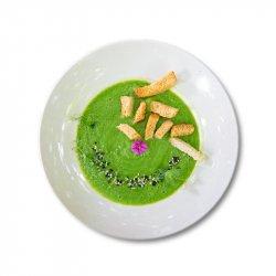 Supă cremă de broccoli și crutoane image