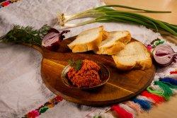 Zacuscă de păstrăv afumat + Pâine de casă image