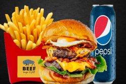 30% REDUCERE: Meniu Double Trouble Burger image