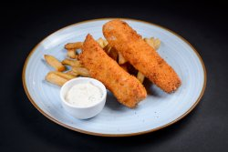 Fish and Chips cu sos remoulade image