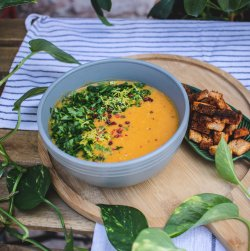Lemon&Lentils soup + crutoane image