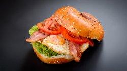 Bagels sandwich-eggs&bacon image