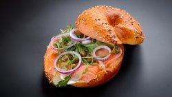 Bagel Somon Sandwich image