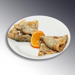 Clătite cu dulceață de mure / Pancakes with blueberry jam image