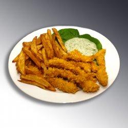 Crochete de pui cu garnitura / Chicken sticks with cornflakes and garnish image