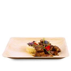 Mușchiuleț de porc în sos de soia cu orez frumos image