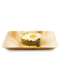 Spanac sote cu ou și brânză feta image