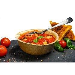 Supă cremă de roșii cu busuioc și halloumi image