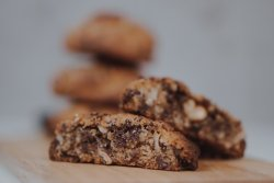 Crunchy on the outside and soft on the inside chocolate cookie image