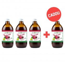 Pachet 3+1 Gratis Sfeclă roșie BIO 100% suc pur 500 ml