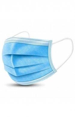 Set 50 bucăţi Măşti medicale faciale, de unică folosinţă, tip I, 3 straturi (albastre) image