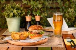 The Apache burger menu image