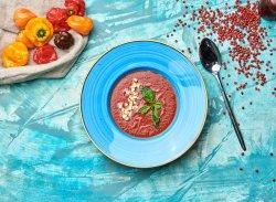 Cremă de roșii și mozzarella image