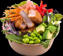 Avocado & pui crispy salad image