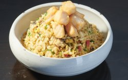 Vegetables Fried Rice Salmon image